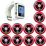 999CH Restaurant Wireless Paging System 433MHz 1*Watch Receiver+10*Call Buttons