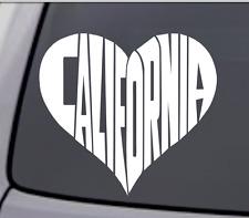 CALIFORNIA LOVE HEART Vinyl Decal Sticker Car Window Wall Bumper Golden State