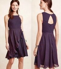 Ruffled Clipdot Dress Size 0 Eva Franco Clip Dot NWT Favorite!