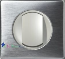 Interrupteur à griffe Legrand Céliane aluminium à griffe 67001+68301+80261+68921