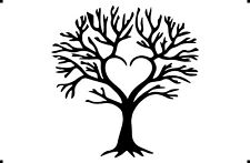 A4 A3 A5 HEART TREE OF LIFE airbrush paint spray Reusuable stencil Premium mylar