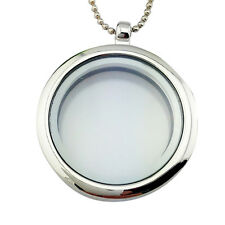 Floating Charmings Living Memory Glass Rounds Lockets Charms Pendant Necklaces