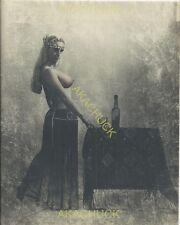 Hendrickson Hand Tinted Print 7.75x9.75 Buxom Bejeweled Topless Harem Miss
