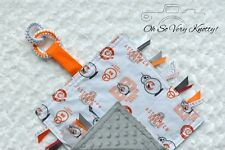 Star Wars BB8 Handmade Sensory Taggy Ribbon Security Baby Blanket Teething Ring
