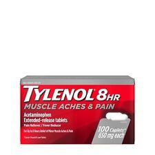 TYLENOL 8HR MUSCLE ACHES & PAIN Acetaminophen 650mg 100 Caplets