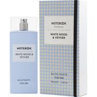 Notebook Fragrances White Wood & Vetiver Eau De Toilette for Him 100ml 3.4oz NIB
