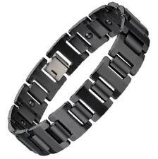 Energy Power Bracelet Health High-Tech Ceramic Armband HEMATITE Magnetic Bio