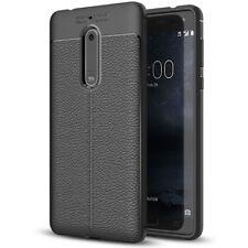Nokia 5 Hülle Leder Look Handy Hülle von NICA, TPU Silikon Cover Case Schutz