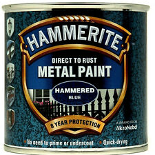 Hammerite Direct To Metal Hammered Blue 250ml