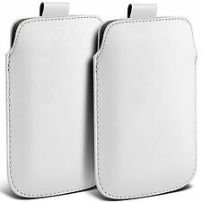 Twin Pack PU Leather Pull Tab Case Cover Pouch For Nokia C1-01