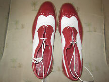 Allen Edmonds Spectator Neumok 7 New Red and White Alabama Colors 7D