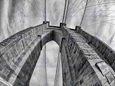 BROOKLYN BRIDGE SUNSET NEW YORK CITY BLACK WHITE PRINT POSTER PICTURE BMP1810A