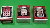 Lot 3 HALLMARK KEEPSAKE CHRISTMAS ORNAMENTS with Boxes - Café, Grocery Store