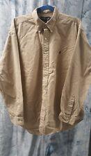 MENS RALPH LAUREN khaki blaire long sleeve button up shirt sz X-Large