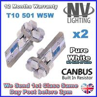 501 8 LED WHITE SIDELIGHT BULBS FORD C-MAX S-MAX GALAXY