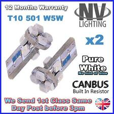 501 8 Led Blanco sidelight bombillas Ford Focus Mondeo Galaxy