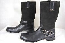 SUPER GORGEOUS !!! CESARE PACIOTTI  MEN LEATHER  BIKER RIDING BOOTS EU 11 US 12