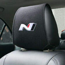 1 X HYUNDAI N LINE Headrest Cover N logo for all models BLACK Tucson Kona i30 13