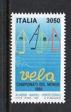 ITALIA Gomma integra, non linguellato 1989 sg2022 CAMPIONATI MONDIALI DI VELA