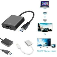 USB 3.0 to HDMI Video Cable Adapter 1080P Converter for TV Monitor Computer