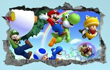 Super Mario,Sticker,Kids,3D,Decal,Bedroom,Wall Art,Mural