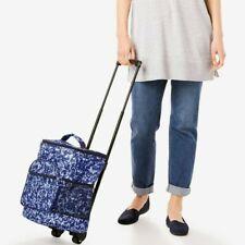 New listing Brand New Wheeled Cooler Beach Bag w Tow Handle Blue Batik Tote