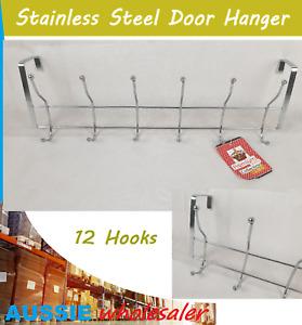 Steel Door Hanger 12 Hooks Stainless  for Bedroom, BathRoom, Cloth, Towel