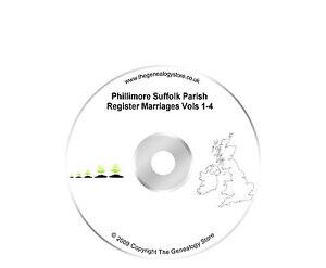 Phillimore Suffolk Parish Register Marriages Vols 1-4