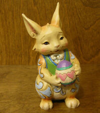 "Jim Shore Heartwood Creek Pint Size #4037676 HAPPY EASTER WISHES, NIB Bunny 5+"""