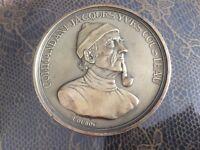 """#1811# Médaille commandant Jacques Yves Cousteau en bronze """"Le Monde des Océans"""""""
