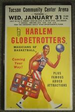 1962 Harlem Globetrotters Basketball Team Poster in Excellent Condition