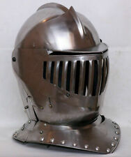 Médiévale Acier Fermé Armor Casque Knight Warrior Bettle Casque Costume 16GA