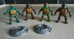 2002 TMNT Teenage Mutant Ninja Turtles Miniture Figures / Excellent Condition