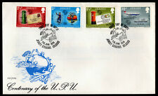 Jersey - Sc #99 to 102 -1974 Upu Centenary - Unaddressed First Day Cover