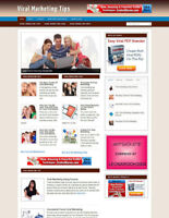 VIRAL MARKETING ADVICE BLOG / WEBSITE WITH MULTI AFFILIATES AND NEW DOMAIN