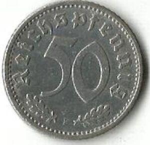 Germany, 50 Reichspfennig 1935 F. Rare coin.