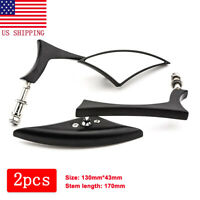 Motorcycle Black Blade Rear view Mirrors for Harley Cruiser Bobber Chopper DYNA