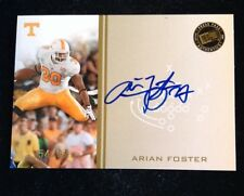 Arian Foster Auto /99 2009 Press Pass Auto Texans On Card Auto