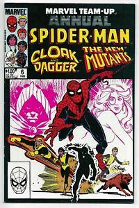 Marvel Team Up Annual #6 Marvel Comics 1983 VF New Mutants Spider-Man