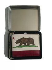 Men's California Wallet Bear White Red Buckle Down 5 pocket