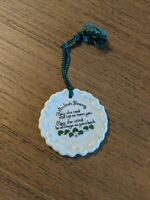Belleek - Irish Blessing Ornament, Hand Crafted Ireland Fine Parian China