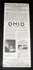 1923 OLD MAGAZINE PRINT AD, OHIO-TUEC VACUUM CLEANER, BUILT AS WOMEN WANTED IT!