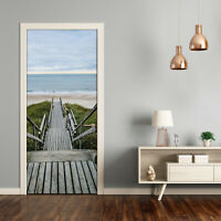 Home Mural Door Self Adhesive Removable Sticker Landscapes Path to the beach