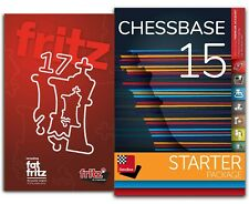 Fritz 17 + CHESSBASE 15 STARTER Bundle Chess Software
