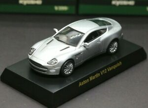 Kyosho 1/64 British Car Collection Aston Martin V12 Vanquish Silver