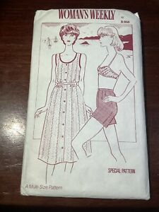 New WOMAN'S WEEKLY Misses Top Shorts Bra Skirt Pattern B858 Size 12-18