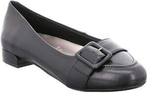 GERRY WEBER VEGI 05 BLACK Genuine Leather Ladies Women's Casual Shoes UK7 S23E2