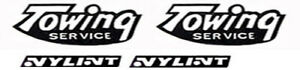 Replacement water slide decal for Nylint towing service truck from 1970's