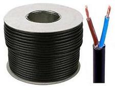 Black Round Flexible Cable 2182Y 2 Core 0.75mm 6 Amp 50m Flex Drum OR Coil