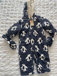 BNWT John lewis Penguin Snowsuit 9-12 Months
